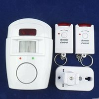 Wholesale Remote Controlled Wireless IR Motion Sensor Alarm System For Home Security White DC V degree
