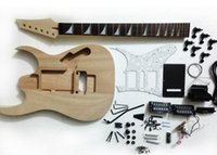Wholesale Electric guitar kit according to spot her piano body made the neck DIY duplex semi finished product scale lightning
