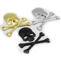 Wholesale 3D M Motorcycle Decal SKULL METAL SKELETON Protector Deposito Moto Racing Stickers Motorcycle Pegatinas Skateboards Racing Stickers