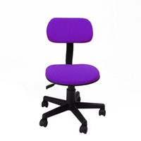 Wholesale Office Computer Chairs Home Furniture Fabric Pads Adjustable Seat Height Color Purple