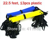 Wholesale 1pc FOOT Soccer Training Speed agility ladder Quick Flat Rung Agility Ladder carry bag