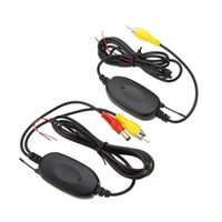 Wholesale 2 GHZ Wireless Video Transmitter Receiver Kit Set m car detector for Car Rearview Camera Monitor DVD Player GPS LED Indicator order lt no