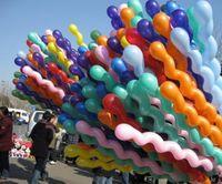Wholesale Multi Colors Twist Latex Balloon Screw Magic Balloon for Celebration Party Wedding US DHL Free HM406