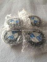 Wholesale Car styling mm aluminum ABS BM logo wheel hub center caps for car badges emblems decoration