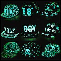 Wholesale Fashion luminous flat hat All hip hop style fluorescence cap baseball cap Snapbacks Snapback Baseball Hats Caps for men women Fluorescence