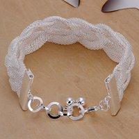 best weave brands - Hot sale best gift silver Woven mesh bracelet DFMCH253 Brand new fashion sterling silver Chain link bracelets high grade