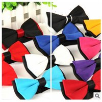 adjustment layers - Wholes Men Neck Bowtie Adjustment Buckles Double Layer Bow Ties Multi style Mens Wedding Party Ties Jacquard Weave Groom Ties Cheap