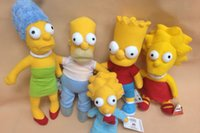 bart plush - set new American anime plush stuffed toy Simpsons family Homer J Marge Bart Lisa Maggie CM gift