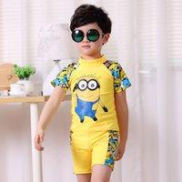 2 colori Boy me spregevole minions Suits Costumi da bagno 2015 nuovi bambini Cartoon manica corta T-shirt + shorts 2 pezzi Abiti B001