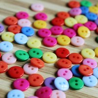 Wholesale 1000pcs Colorful Resin Buttons Children s clothes buttons painting materials Round Holes Diameter mm Fashion Accessories