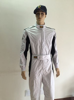 Wholesale 2016 car racing suit polyester not fireproof white color size XS XL fit men and women