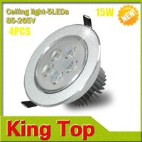 Wholesale 4Pcs W CREE LED Ceiling lamp Downlight AC V V With LED Driver Waterproof Recessed Spot light For Home Indoor lighting