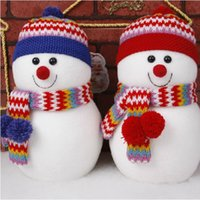 Wholesale Christmas decoration supplies christmas snowman doll colors red and blue Drop shipping PX0013