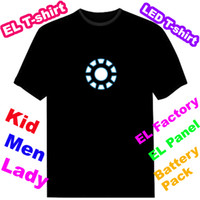 activate bamboo fiber - Luminous Iron Man The Avengers EL T shirt Manual control led t shirt Sound Activated EL T shirt Equaliser Equalizer T shirt EF228