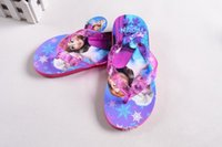 Wholesale Newest Frozen children slipper kids girl Elsa cartoon summer beach sandals flip flop shoes Household shoes size