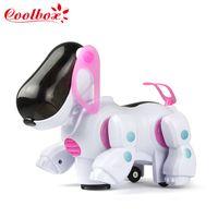 Wholesale Gift Lovely Electronic Robot Walking Dog Puppy Toy Music Shine Pet Safe Kids Toy Lights Robotic Dog Walking Kids Toy Children