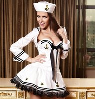sexy halloween costumes - Sexy Navy Sailor Style Halloween Newest Uniform Dress Cosplay Game Apparel Temptation Performance Underwear Sexy Costumes Polyeter Sexy Set