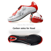 Revisiones Mtb cycling shoes-Al por mayor-2015 Sidebike MTB Racing Athletic Shoes Men Carretera y Montaña Ciclismo Ciclismo Zapatos Zapatos Zapatos de camino del carbón al aire libre de la bici