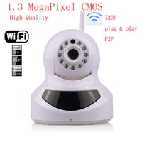 Wholesale High Quality HD P IP Camera Wireless Wifi with Pan Tilt SD Card Slot MegaPixel CMOS LENS and IR Cut p x720