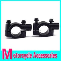 Wholesale High Quality Universal Motorcycle quot Handle Bar Mirror Mount Holder Clamp Adaptor Black Pair high qualiti Free shopping