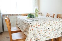 Wholesale 2015 new style of cloth IKEA cm cm cotton creative black and white cat animal tablecloth table cloth tablecloth