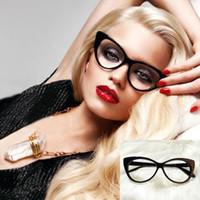 Wholesale Hot Sale New Cat Eye Glasses Sexy Retro Fashion Black Women Eyewear Frame Clear Lens Vintage Eyewear