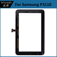 Wholesale Samsung Galaxy Tab2 P3110 Touch Screen Digitizer Replacement Part Glass Panel Lens Front Touch Screen Outer Lens