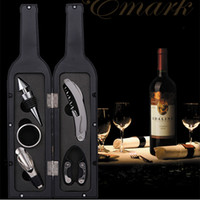 Wholesale Wine Tool Bar Sets Gift Packing Bottle Opener Stopper Drip Ring Foil Cutter Wine Wine Bottle Gift Set Corkscrew Accessory Set
