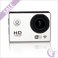 Wholesale 2015 New SJCAM SJ4000 WiFi HD Camera Mini Camcorders Sports DV Camera for Gopro Waterproof Novatek inch LCD Degree Car DVR Recorder