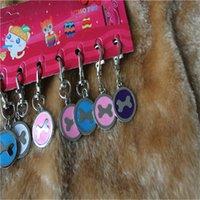 Wholesale Hot Saling New Pet Puppy Dog Cat Names Tag Pendant Pet Dog Cat ID Tag Medium Name Tags Pet identity card Bone Shaped JJ159