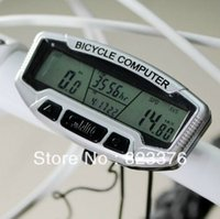 Wholesale DHL Digital LCD Backlight Bicycle Computer Odometer Bike Meter Speedometer SD558A Clock Stopwatch