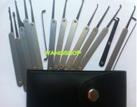 auto door handles - Good quality Lock Picks Sets Stainless Handles w Bag Removing Key Set Lockpick Locksmith Tools Lock Opener Unlock Door