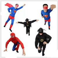 Wholesale Adult Batman Spiderman Superhero Superman Costumes Halloween Cosplay Clothes Performance Clothes Halloween Party Supplies New Year Showtime