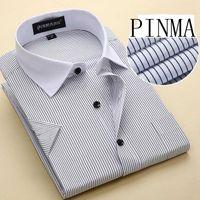 big name clothing brands - NEW brand name mens designer clothing men fashion xl short sleeve big size striped shirts mandarin collar chinese dresses xxxxl