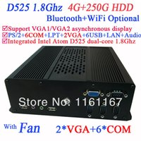 atom thin client - DIY NEW wifi mini pc windows thin clients with VGA COM Intel Atom D525 dual core Ghz G RAM G HDD with LVDS supported