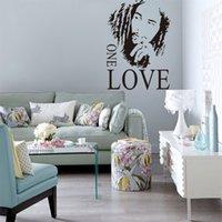 al por mayor etiquetas de la pared cita de bob marley-Decoración para el Hogar BOB MARLEY ONE LOVE Vinilo Desprendible Cita Wall Stickers Decal Arte