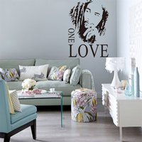 Wholesale Home Decor BOB MARLEY ONE LOVE Removable Vinyl Quotes Wall Stickers Decal Art