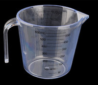 Wholesale Thick transparent plastic measuring cup measuring cup with a scale visible on both sides of baking tools precision ml ml