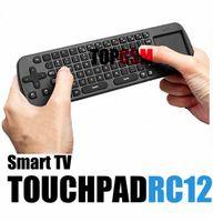 RC12 sans fil clavier souris sans fil avec Touch Pad Measy Air souris 2.4G clavier sans fil pour PC Android Smart TV Box portable