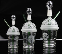 cup - 2015 New Starbuck Cup Original Opaque Bright green dab concentrate oil rig glass bong glass dome and nail Hookah glass water pipe