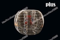 Cheap Free shipping 1.5m plus clear and clear dot inflatable human hamster bumper ball bubble football soccer loopy crazy stress ball