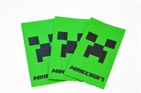 Wholesale 2015 hot sale Minecraft my world food bagspacking Popcorn Folding Paper Shopping bags Green color