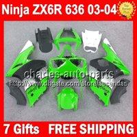 Wholesale 7gifts Fairing For KAWASAKI NINJA ZX6R Green white ZX R Q8276 green black ZX636 ZX R ZX R ZX