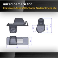 aveo sedan - wired HD CCD car reverse backup parking camera for Chevrolet Aveo Sonic Sedan Cruze night vision waterproof