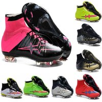 Wholesale Hotsale SUPERFLYs Football Boots for Men Red Magistas High Ankle Soccer Shoes Soccer Cleats