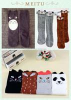 Wholesale Children Patterned Cotton Tights Leggings - Fashion New Baby Cotton Cartoon Socks pattern for Children Baby Long Socks Panda Cat Fox Owl Rabbit Bear