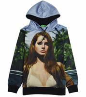 Wholesale w1216 Harajuku hoody men womens brand new Lana Del Rey D fleece hoodies casual hooded pullover thick sweatshirt long sleeve tops