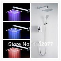 Cheap 8 inch led Bath & Shower Faucets mixers taps set bathroom Home Improvement chuveiro lanos lada torneira banheiro home decor