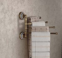 active racks - New Designed Wall Mounted Antique Brass Bathroom Towel Rack Holder Active Towel Bars