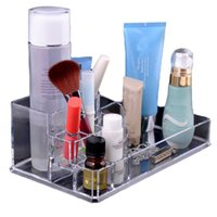 acrylic candy display cases - 2015 New Clear Makeup Jewelry Cosmetic Storage Display Box Acrylic Case Stand Rack Brush Holder Organizer